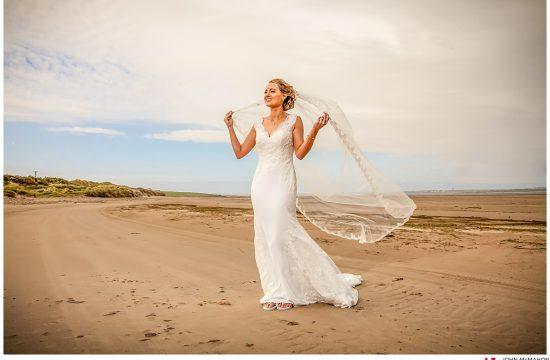 Bride on Sraith Beach Belmullett Mayo