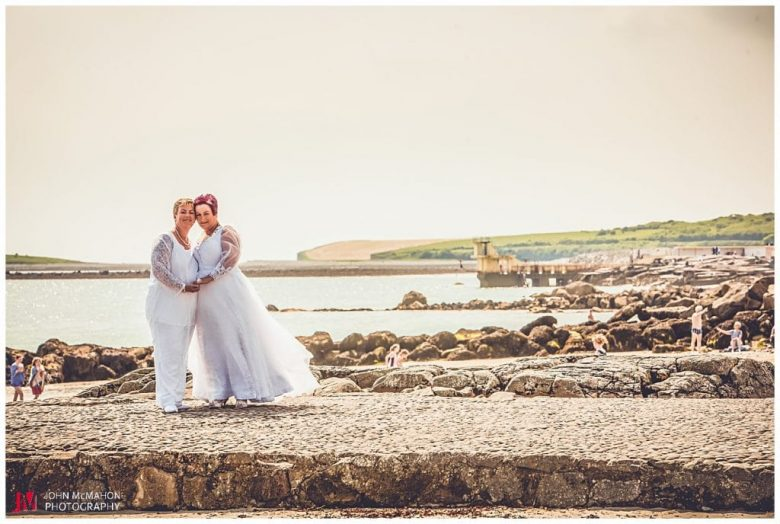 Wedding on the Galway Promenade salthill