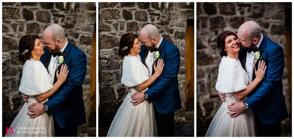 Bride and groom having fun at their claregalway wedding