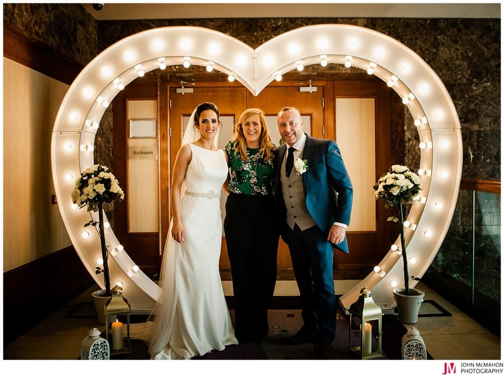Karina with Irene and David in the Clayton Hotel Galway