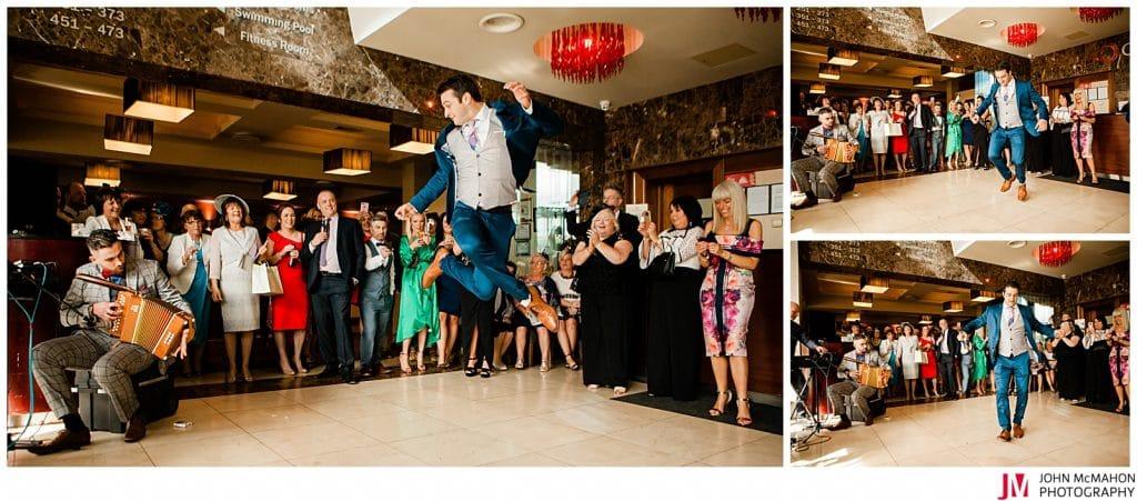 Award winning wedding documentary photo from the Clayton Hotel Galway