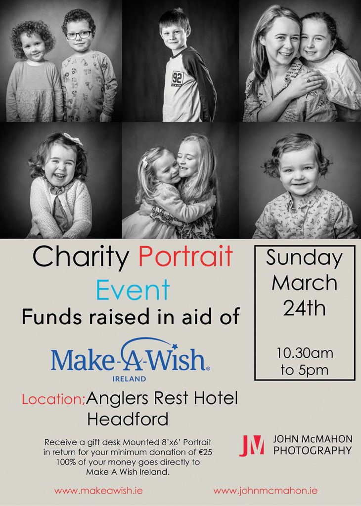Add for Charoty Portrait Shoot Galway