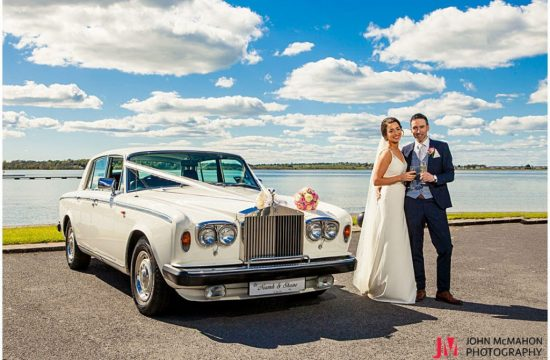 Bride and groom in Loughrea Co Galway