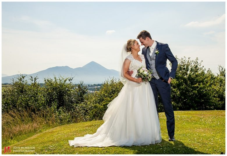 Wedding photogaph of Knockranny with Croagh patrick in the distance