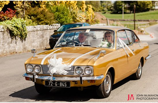 Father drives daughter to wedding