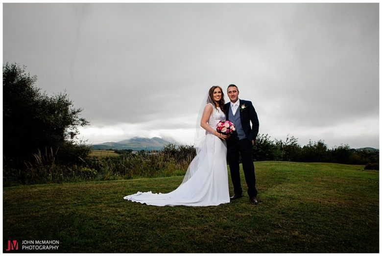 Bride and groom in Knockranny Hotel