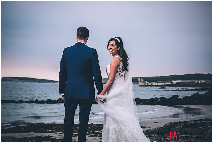 Wedding photo salthill prom Galway