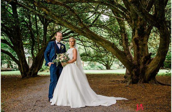 Ciara and Ronan getting wedding day photos in Cong Mayo
