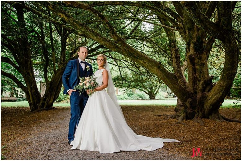 Ciara and Ronan getting wedding day photos in Cong Mayo
