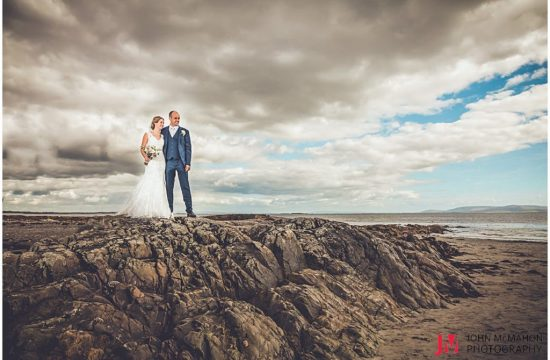 Caitriona and Shane on the Prom on their wedding day
