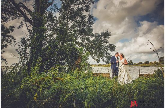 Bride and groom on wedding day in Loughrea Co Galway