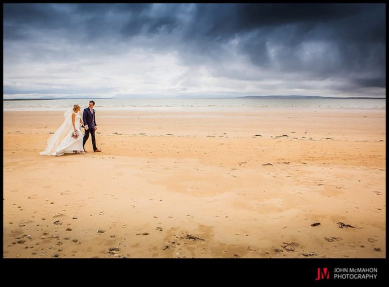 walking on Srath beach on your wedding day