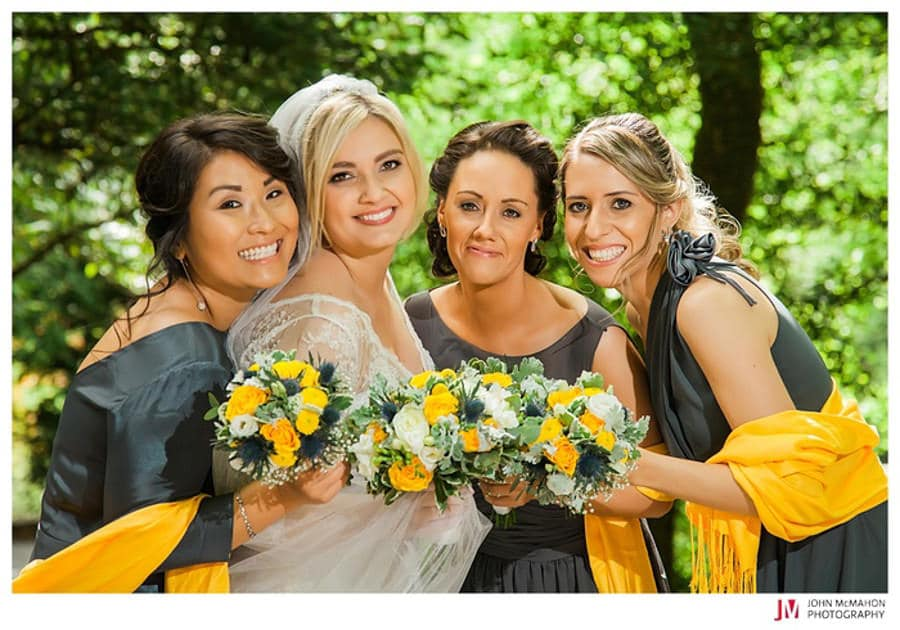 Beautiful bridesmaids in Cong Mayo