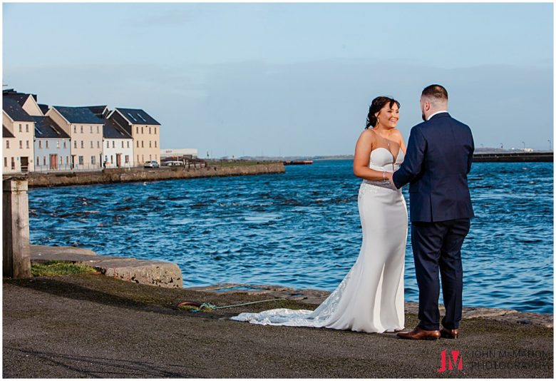 Wedding day photos in the Claddagh Galway
