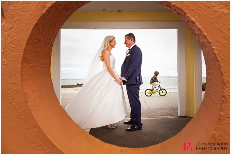 Wedding photos from the Salthill prom Galway